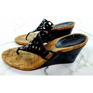 Coach Shoes - Coach Brooke wedges patent leather black 7